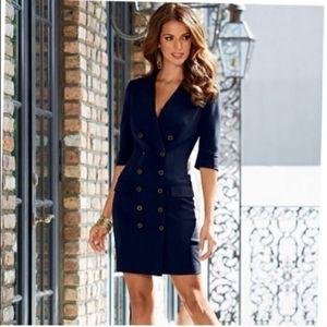 New Venus Sz 6 Navy Blazer Dress